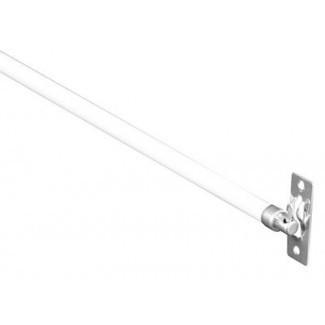 """Barras de cortina de marco giratorio de 5/16 """"- 2 barras - Ancho ajustable de 21 - 38 pulgadas, blanco con extremos de níquel [19659018] Construidas con un metal resistente y duradero, estas barras de cortina son fáciles de ajustar entre 21 """"a 38"""". Completo con extremos de níquel, el paquete contiene todo lo que necesitará para una fácil instalación ofreciéndole un tipo alternativo de barra de cortina que va más allá de las formas más tradicionales. </div> </p></div> <div class="""