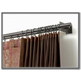 Barras de cortina de puerta francesa Home Depot - Persianas y cortinas