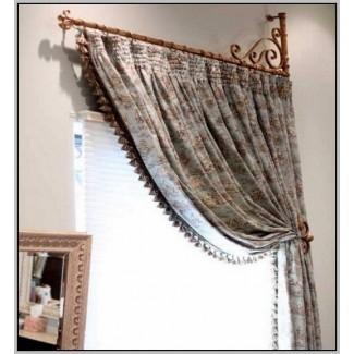 Brazo oscilante para barra de cortina de puerta   Cortina