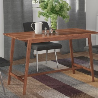 Mesa de comedor de madera maciza Flavius 