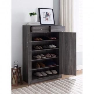 Gabinete de almacenamiento de zapatos espacioso de 13 pares