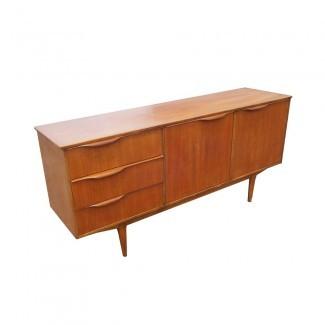 "66 ""Vintage Mid Century Modern Teak Sideboard Credenza | eBay"
