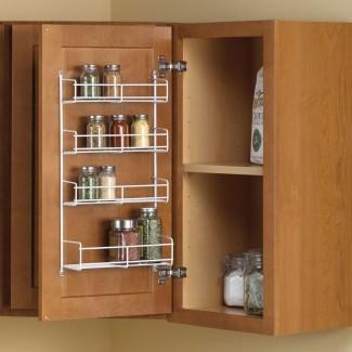Estante de montaje en puerta Spice Rack Cabinet Spice Organizer Powder ...