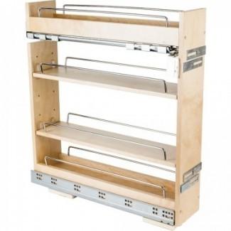 Gabinete de base sin ondulación Extraiga el estante de especias 5-14