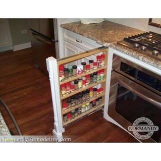 Extraíble gabinete Spice Rack Pull Out | Ideas de diseño para el hogar