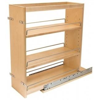 Extraiga el estante para especias | Gabinete base Organizadores de inserción