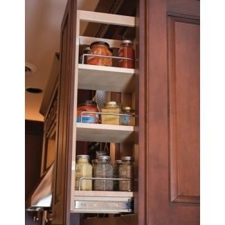 Extraiga el gabinete superior del estante de especias 8 de ancho