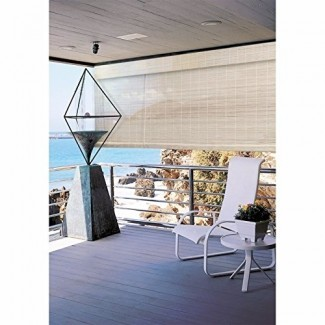 Persianas enrollables de bambú para exteriores Persianas enrollables de luz interior de 8x6 Ventana enrollable hacia arriba Nuevo
