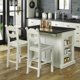 Fiesta Granite Top Kitchen Island con 2 taburetes | Homestyles