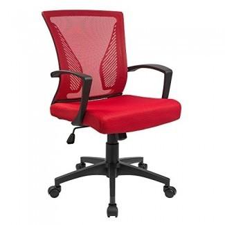 Furmax Office Chair Mid Back Swivel Lumbar Support Desk Chair, Computer Ergonomic Mesh Chair con reposabrazos