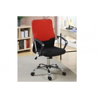 Oficina negra y roja Silla