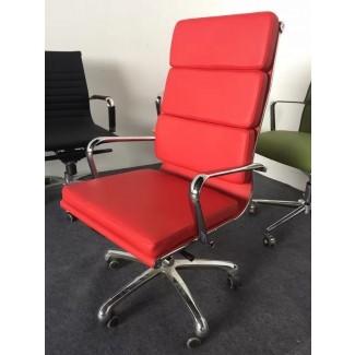 Silla de oficina moderna eames roja / silla de oficina reclinable roja ...