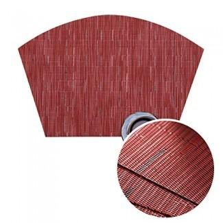 Juego de manteles individuales para mesa redonda Jutao de 4 tapetes lavables con cuña para mesa de cocina, mesa redonda