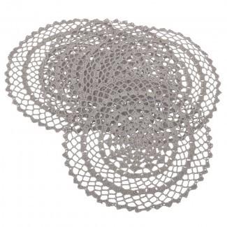 """Hanlin Antique Crochet mantel individual de 15 """"(juego de 4)"""