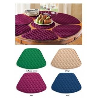 Manteles individuales de mesa redonda de comedor de cocina de 7 piezas con ...