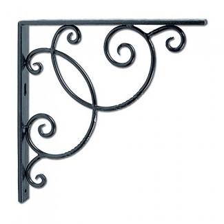 Achla Designs Soportes de estante de desplazamiento decorativo de hierro forjado, par