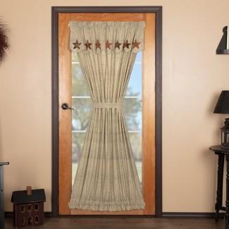 Panel de cortina simple con bolsillo de varilla de color sólido Lydia Star Door