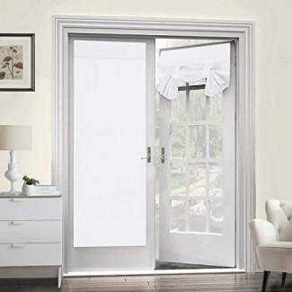 Turquoize Tricia Window Cortinas de puerta para ventana de puerta - Paneles de cortina de puerta francesa aislantes con aislamiento térmico Bolsillo de barra de cortina opaca, panel único, 26 x 68 pulgadas