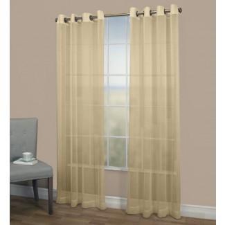Panel de cortina simple con ojales semi-transparentes Bal Harbour