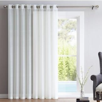 Puerta de patio Lenwood Panel de cortina simple con arandela transparente sólida