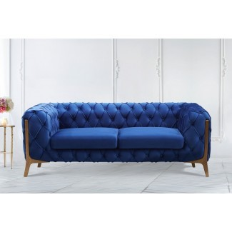 Loveseat moderno con mechones Knoxville
