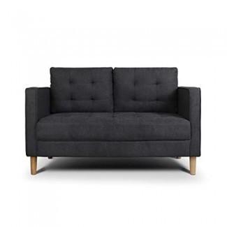 AODAILIHB Sofá moderno Loveseat de cojín capitoné de tela suave moderno Sofá configurable de espacio pequeño