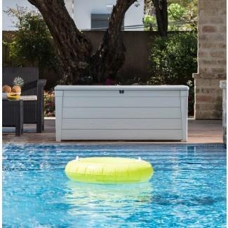 Brightwood Pool Caja de cubierta de plástico de 120 galones