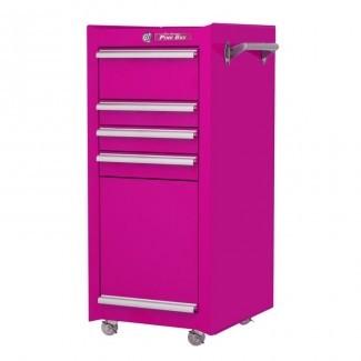 "The Original Pink Box - Cofre abatible inferior de 16 ""An. 4 cajones W"