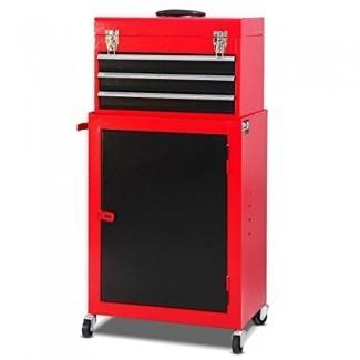 """Giantex 2pc Mini Tool Chest & Cabinet Storage Tool Box Organizador de caja de herramientas de garaje con cofre superior y cajones deslizantes, 17.9 """"X11"""" X35.8 """""""