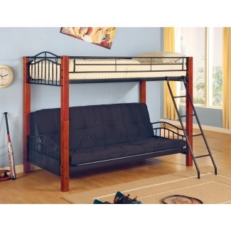 Elk City Twin sobre litera Full Futon