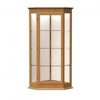 Vitrina de esquina Varsity Series con 1 puerta con bisagras
