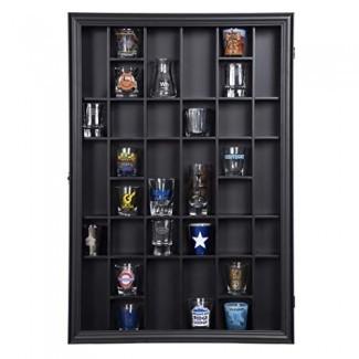 Gallery Solutions 17x21 Pantalla con bisagra frontal, caja de cristal de tiro negro OD 17.8875X21.3125,