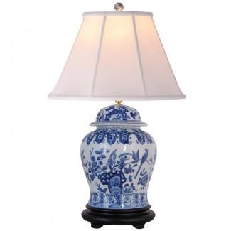 """Lámpara de mesa Christophe 30 """"azul / blanco"""