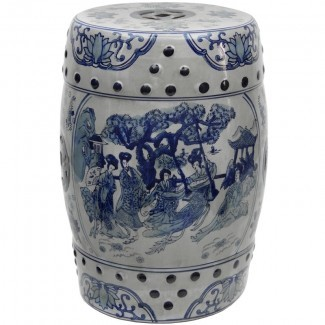 Taburete de jardín de porcelana Christien