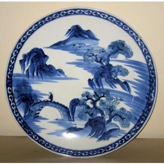 Cargador de porcelana azul y blanco chino de ...