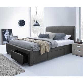 Marco de cama con plataforma King Size con cajones