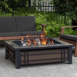 Mesa de fuego de leña Hamilton Steel Wood