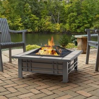 Morrison Steel Wood Burning Fire Pit table