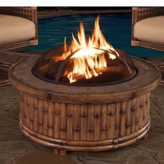 Tecumseh Mesa de pozo de fuego de leña de aluminio