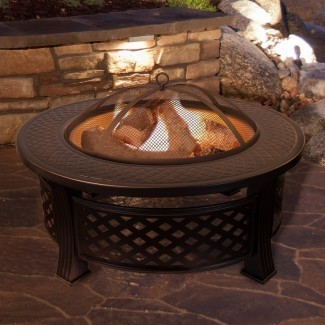 Mesa de fuego de leña de acero