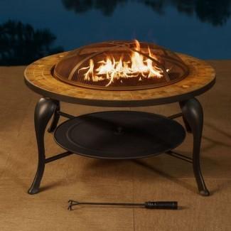 Valley Forge - Mesa para fogatas a fuego de leña de hierro fundido / acero