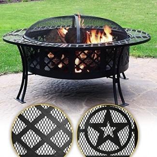 Pozo de fuego Sunnydaze Large Bowl, Opciones disponibles 40 pulgadas de diámetro