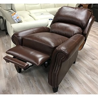Barcalounger Churchill II Reclinable Broughton Saddle Top Grain Leather 7-4440 5453-86 Silla reclinable manual