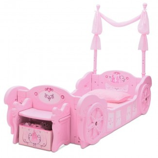 Cama convertible Disney Princess Carriage para niños pequeños