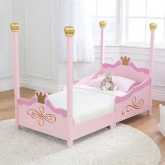 Cama para niños pequeños con dosel Princess