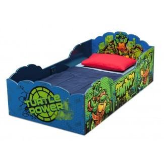 Cama convertible para niños pequeños con tortugas ninja mutantes adolescentes