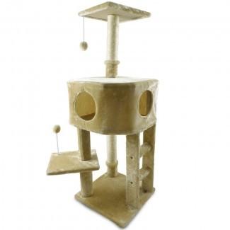 """46.5 """"Arnone Treehouse Kitty Playground Playground Cat Tree"""