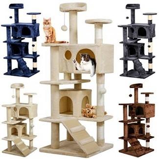 """Yaheetech 51 """"Cat Tree Tower Condo Raspador para muebles para gatitos Pet House Play"""