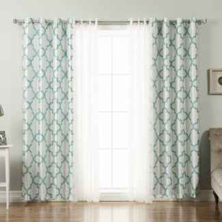 Paneles de cortina opaca Brockton Damask (juego de 2)