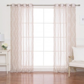 Paneles de cortina transparentes con ojales marroquíes (juego de 2)